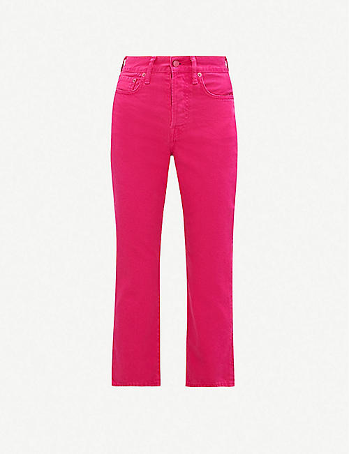 ACNE STUDIOS Mece straight high-rise jeans