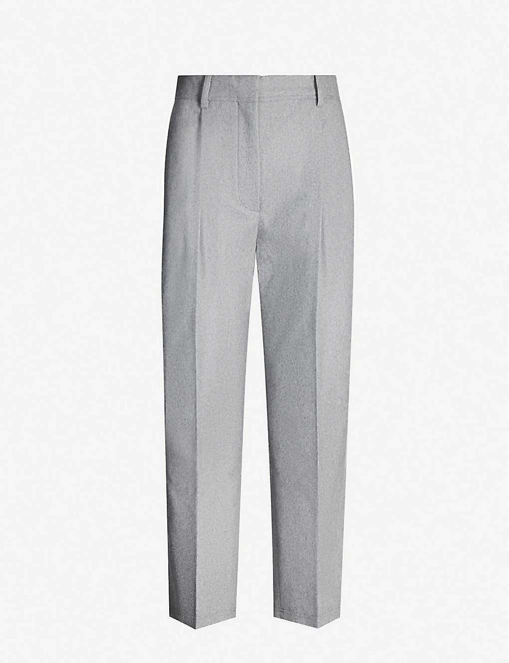 Acne Studios Pants Flannel tapered high-rise wool-blend trousers