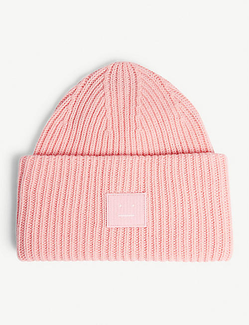b73acd46f7f72 ACNE STUDIOS Pansy Face oversized knitted wool beanie