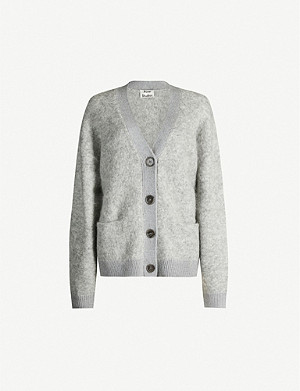 ACNE STUDIOS Rives brushed mohair and wool-blend cardigan