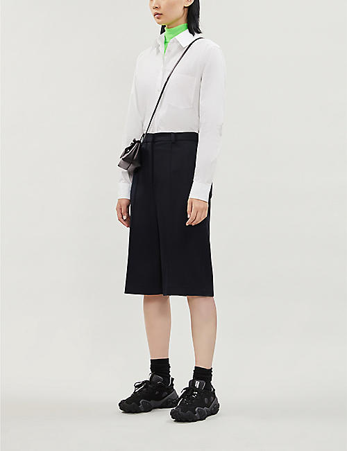 ACNE STUDIOS Simona logo-embroidered cotton-poplin shirt