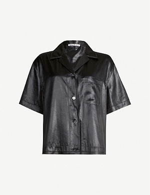 ACNE STUDIOS Sindra relaxed-fit satin shirt