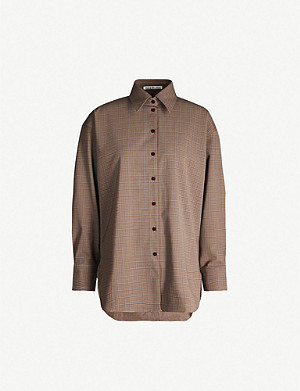 ACNE STUDIOS Checked wool-blend shirt