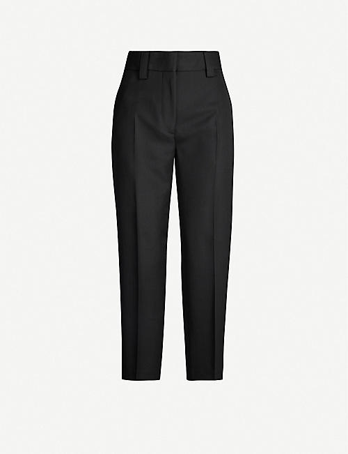 ACNE STUDIOS High-rise wool-blend trousers