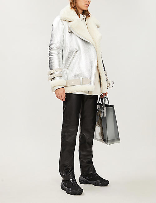 ACNE STUDIOS Velocite slim-fit shearling and leather jacket