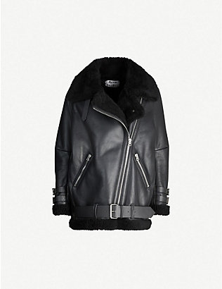 ACNE STUDIOS: Velocite leather jacket