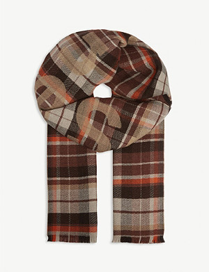 ACNE STUDIOS Check print wool scarf