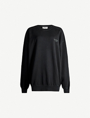 ACNE STUDIOS Wora logo-embroidered cotton-jersey sweatshirt