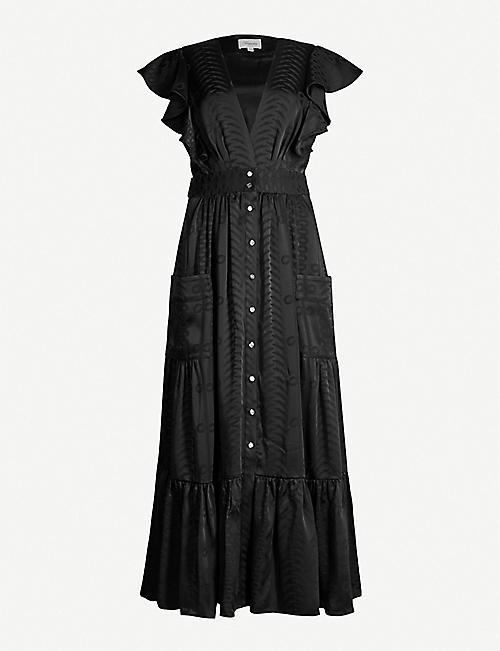 cff5dc4a79e433 TEMPERLEY LONDON Erika V-neck satin-jacquard midi dress