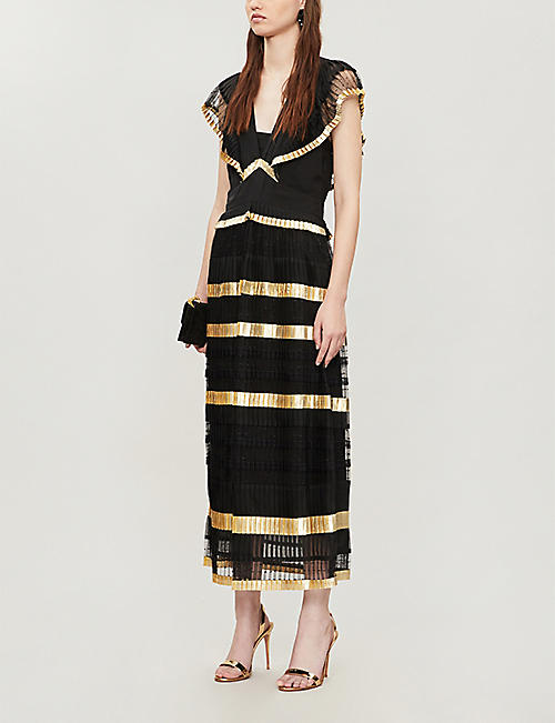 TEMPERLEY LONDON Phantom crepe dress