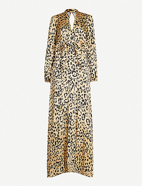 TEMPERLEY LONDON Piera leopard-print silk maxi dress