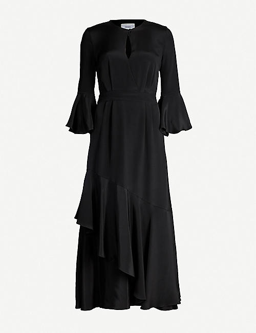 ERDEM Florence ruffled silk midi dress