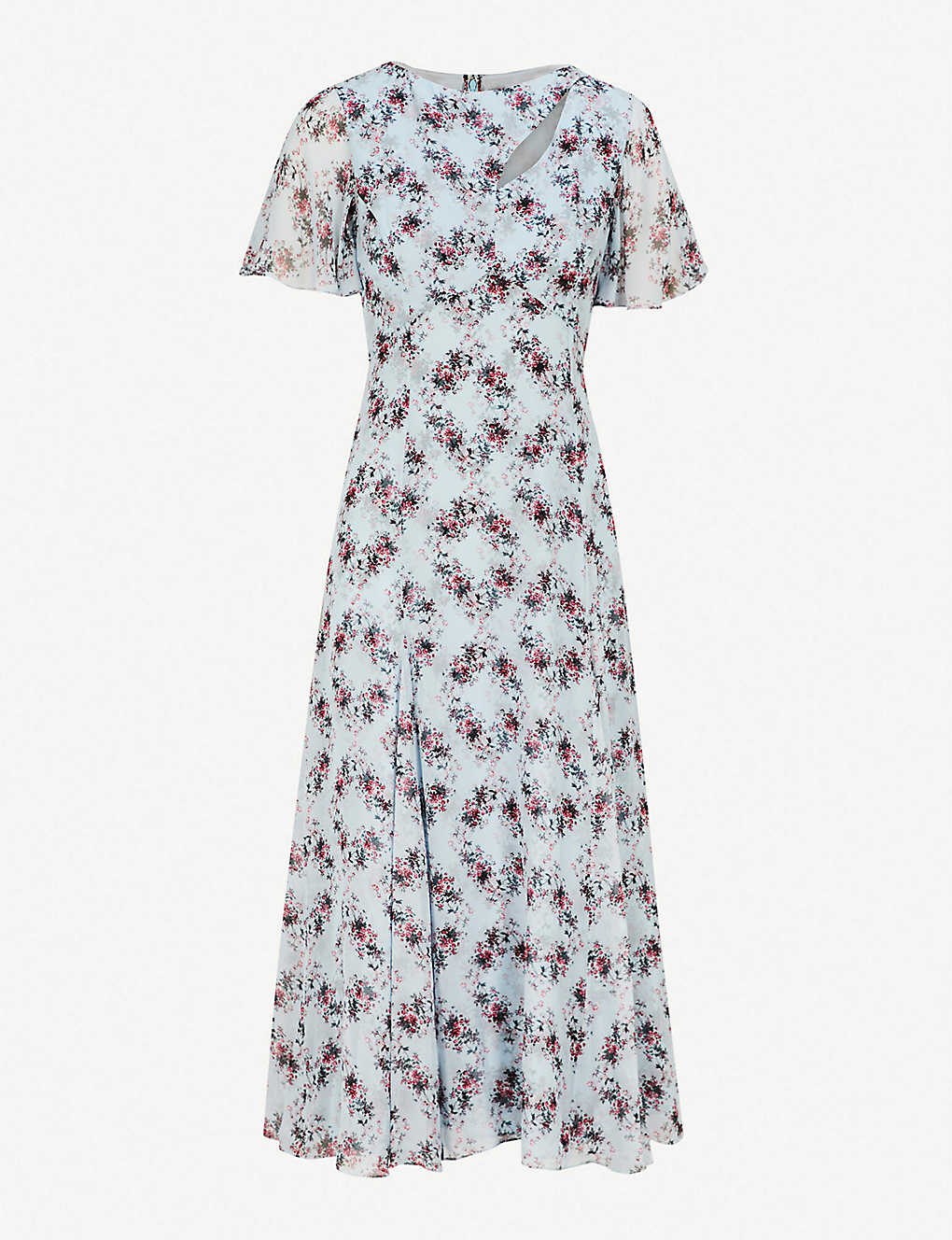 03e6ea3846 ERDEM - Kathryn silk-crepe midi dress | Selfridges.com
