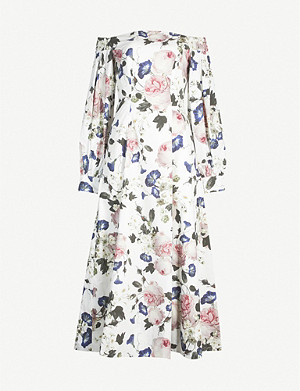 ERDEM Pollina off-the-shoulder cotton dress