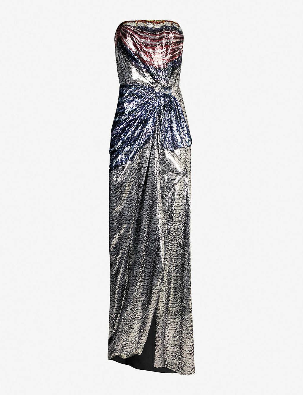 bda7c144c9e MARY KATRANTZOU - Consort strapless sequinned gown