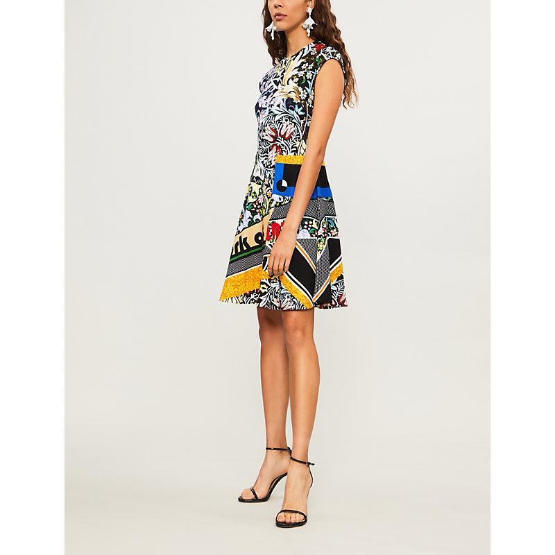 Pinto Abstract-Print Jersey Dress in Multi Bauhaus