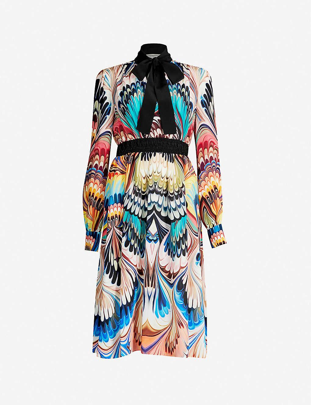 c96460861375 MARY KATRANTZOU - Florence graphic-pattern silk-crepe dress ...
