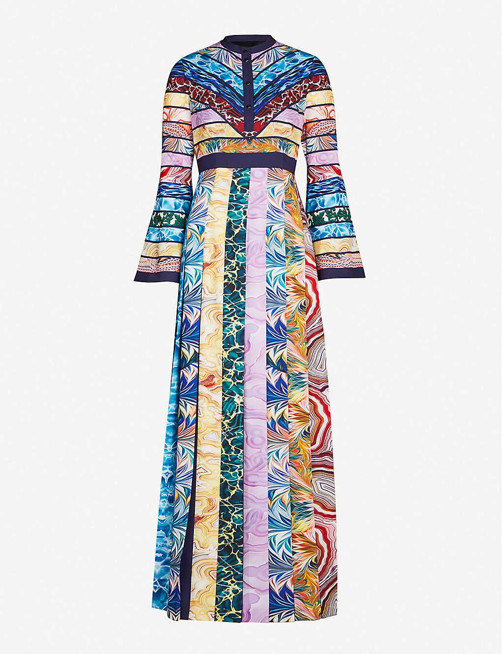 6db78817b13e MARY KATRANTZOU - Desmine graphic-print crepe maxi dress ...