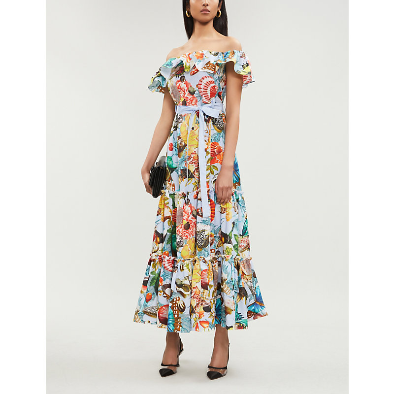 Mary Katrantzou NATA DALIA COTTON-POPLIN DRESS