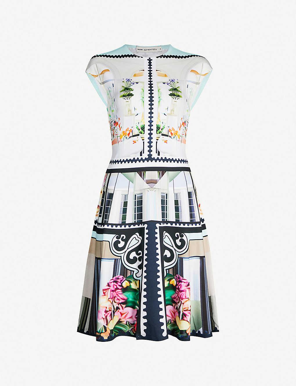 011f28a2f0ce MARY KATRANTZOU - Arden graphic-print stretch-knit mini dress |  Selfridges.com