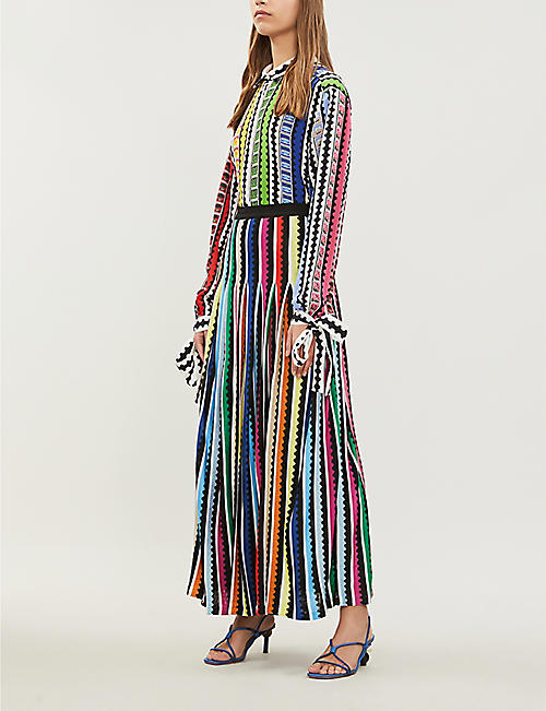 MARY KATRANTZOU Rainbow cotton skirt