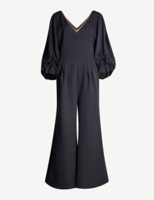 ROKSANDA Lila blouson-sleeved silk-blend jumpsuit