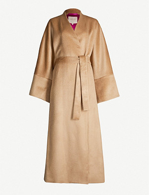 ROKSANDA ILINCIC Larisa collarless wool-blend coat