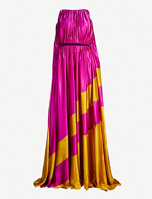 ROKSANDA ILINCIC Maluka contast-panel silk-satin gown