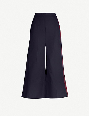 ROKSANDA ILINCIC Hasani cropped wide cotton trousers