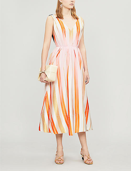 ROKSANDA Ravena striped silk dress