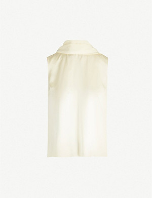 ROKSANDA ILINCIC Merla high-neck silk-satin top