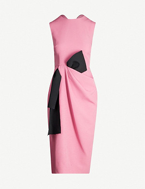 ROKSANDA Carina colour-blocked crepe midi dress