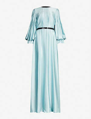 ROKSANDA ILINCIC Athella embellished bishop-sleeve silk-satin maxi dress