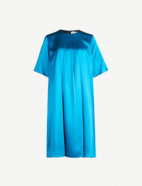 ROKSANDA Ada silk-satin shift dress
