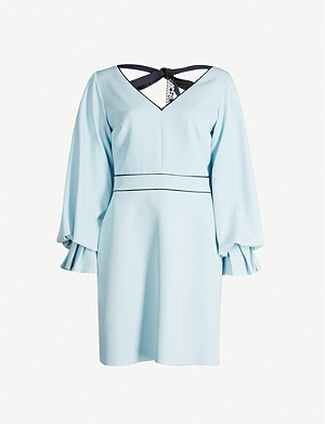 ROKSANDA ILINCIC Darie long-sleeved stretch-crepe mini dress