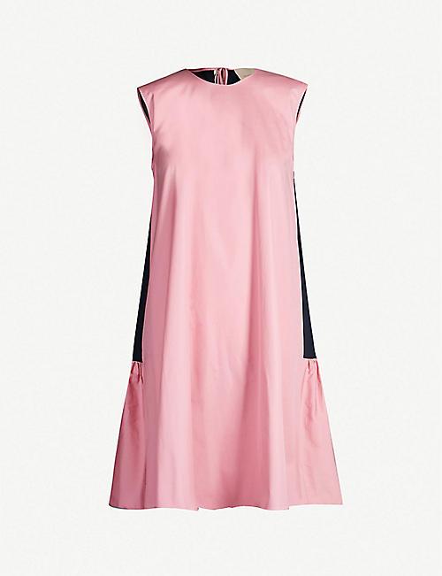 a23be68c2 ROKSANDA Fuji cotton-poplin mini shift dress