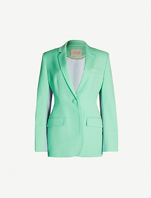 ROKSANDA Akira padded-shoulders wool blazer