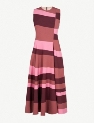 ROKSANDA Tatum sleeveless crepe midi dress