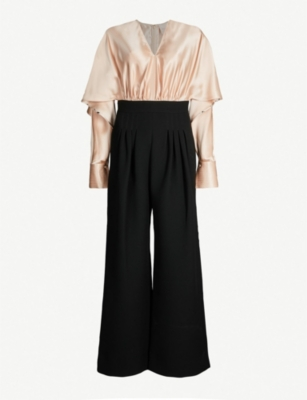 ROKSANDA Ellia silk-satin and crepe jumpsuit