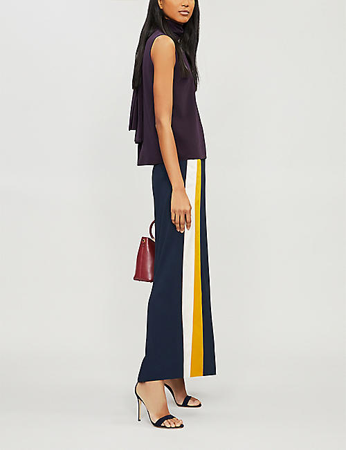 ROKSANDA Merla high-neck silk-crepe top