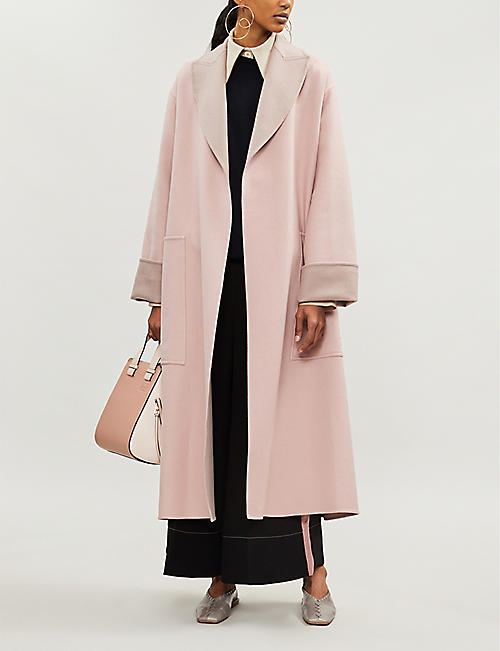 ROKSANDA Marley wrap-over brushed-wool coat