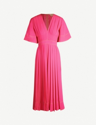 ROKSANDA Zandra pleated silk-crepe midi dress