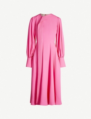 ROKSANDA Adyn quilted-panel silk-crepe midi dress