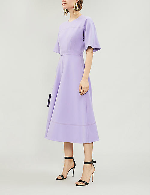 ROKSANDA Maja round-neck crepe midi dress