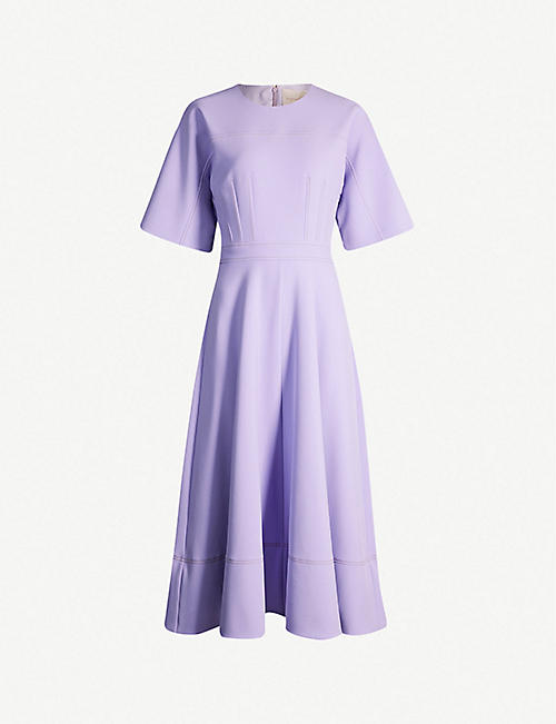 99e199899377 ROKSANDA Maja round-neck crepe midi dress