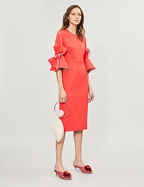ROKSANDA Lavete bow-detail cady dress