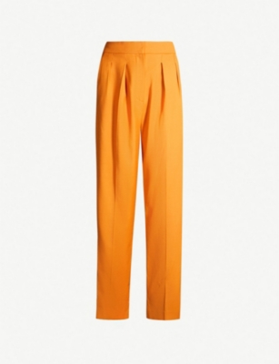 ROKSANDA Ragosta silk and wool-blend trousers