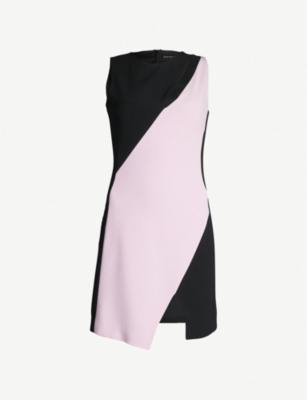 DAVID KOMA Two-tone crepe dress