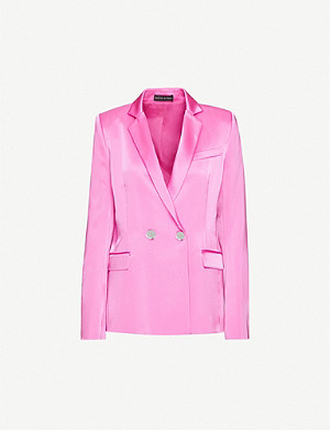 DAVID KOMA Double-breasted satin blazer