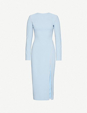 DAVID KOMA Diamante-embellished crepe mini dress